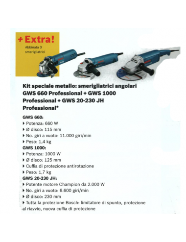 Kit n.3 Smerigliatrici Bosch