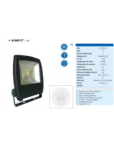 Proiettore LED 10W 230V IP65