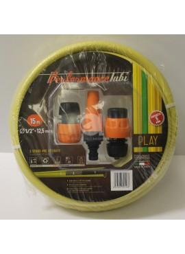 Kit Tubo da giardino D.12,5 MT.15 con raccordi