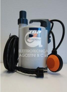 Elettropompa Pedrollo Top 2 per drenaggio - 50HP 220V con galleggiante
