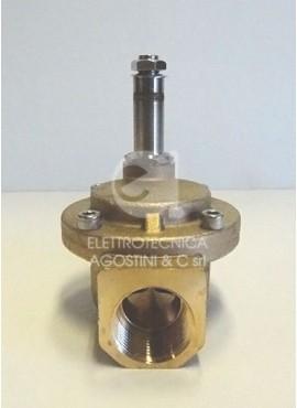 """Elettrovalvola n.c. 1/2"""" in ottone senza bobina Serie 8614"""