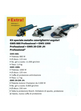 Bosch - Kit 3 Smerigliatrici - Elettrotecnica Agostini & C. SRL