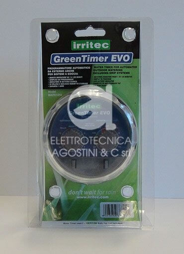 Programmatore Green-Timer-Evo una via a batteria
